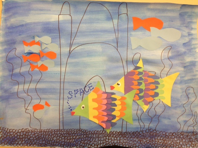 The Fish In This Poster Are Positive Space While Whole Background Is Negative I Used Different Sized To Show Perspective